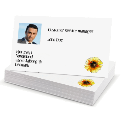 Business cards 85x55mm